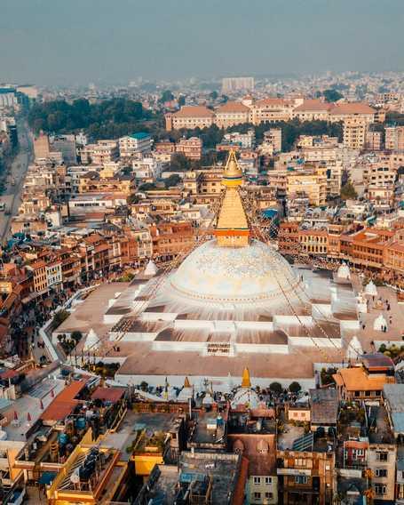 Aerial view of Katmandu