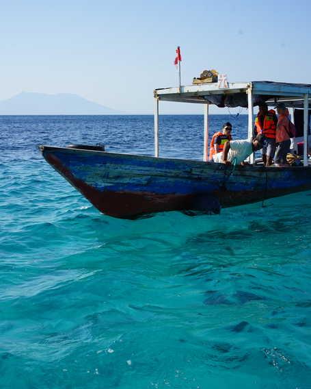 Clear waters of Menjangan Island, Indonesia