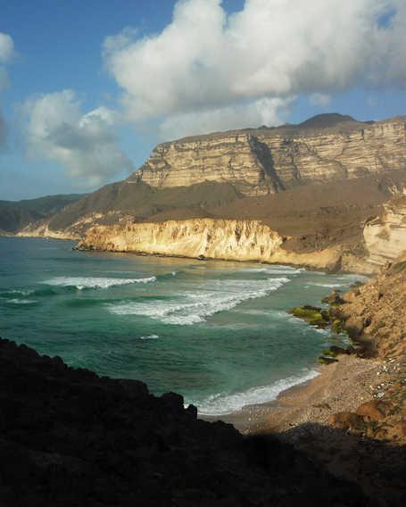 Cliffs in the region of Dhofar, Oman