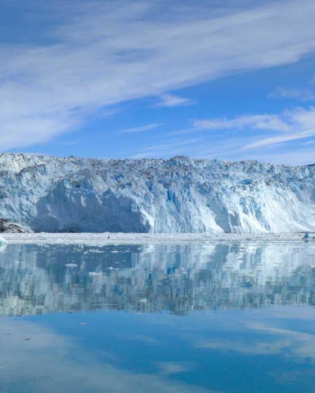 Eqi glacier in Greenland