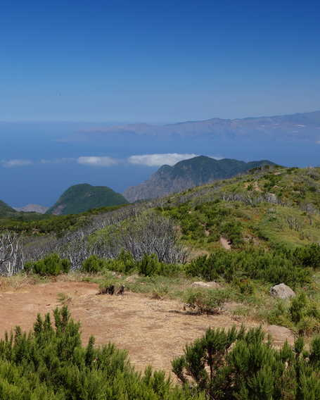 Hiker in la Gomera Island