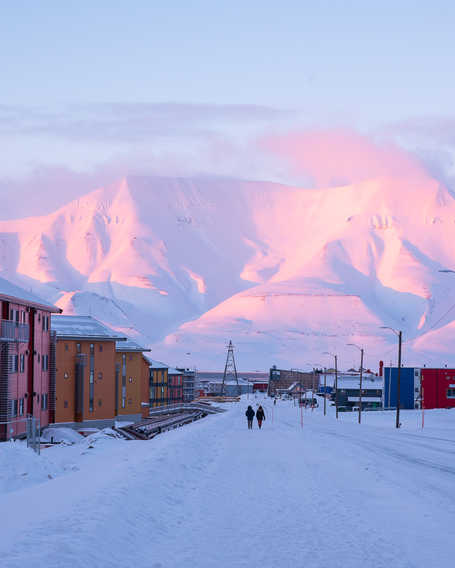 Longyearbyen, city of Svalbard, High Arctic