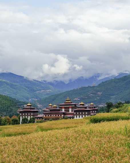 Monastery Tashichho Dzong in Thimphu