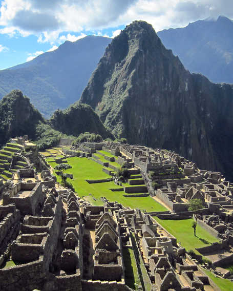 Panorama of the lost Inca city of Machu Picchu