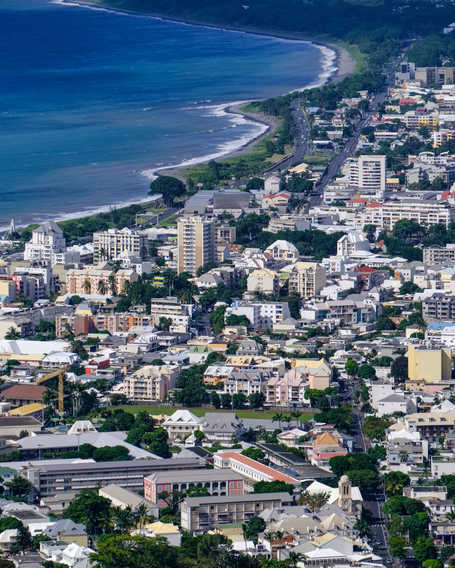 St Denis, the capital of Reunion Island