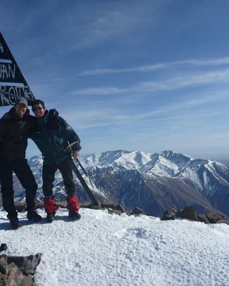 The summit of Toubkal