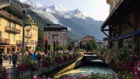 Charming city of Chamonix in the French Alps