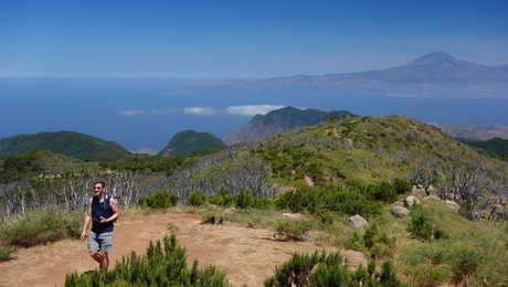 Hiker in la Gomera Island