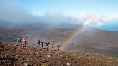 Rainbow in the Piton de la Fournaise