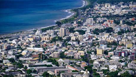 St Denis, the capital of Reunion Island
