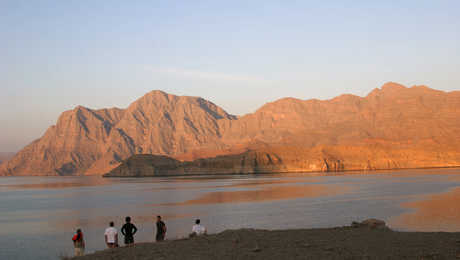 Sunset in the Musandam fjords