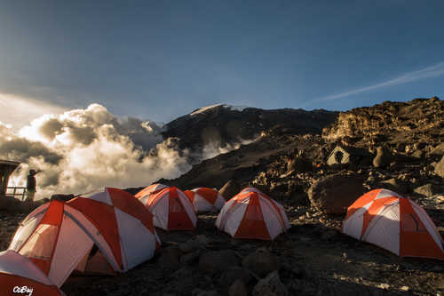 Barafu Camp during the Kilimanjaro ascent