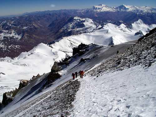 Climbers on Aconcagua