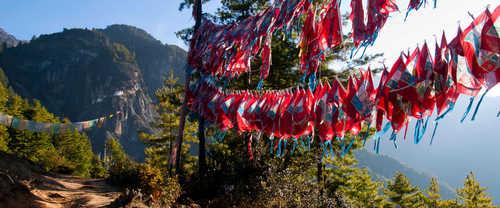 Flags during the Druk Path in Bhutan