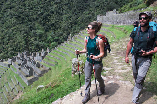 Hikers during the Inca Trail