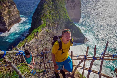 Hikers in Nusa Penida Indonesia