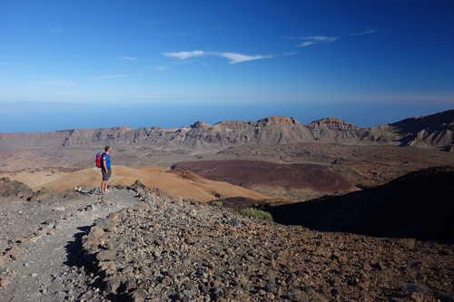 Hikers in the Teïde, Tenerife Island