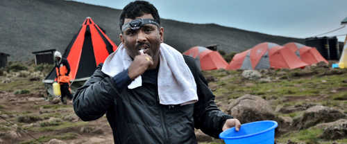 Hygiene on Kilimanjaro