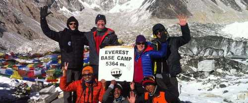Kandoo's group at Everest Base camp