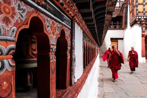 Monks in Paro, Bhutan