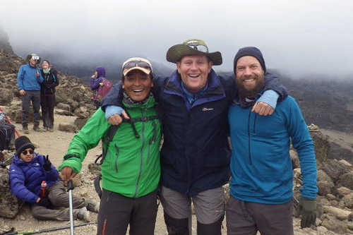 Our Nepal guide, Dorchi, summits Kilimanjaro