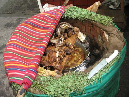 Pachamanca in Peru