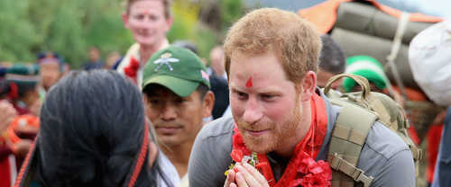 Prince Harry visits Nepal