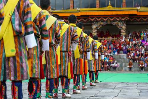 Traditional celebrations in Tashichho Dzong, Thimphu