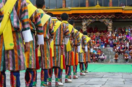 Traditional celebrations in Tashichho Dzong, Thimphu