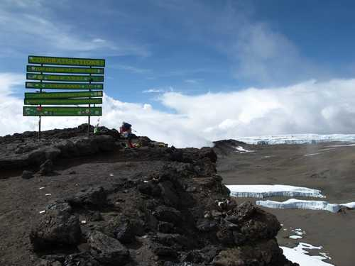 Uhuru Peak, summit of the Kilimanjaro
