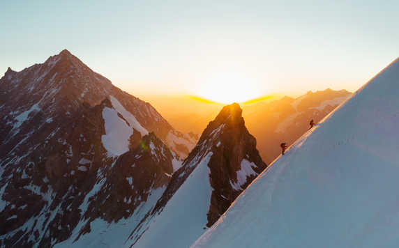 Alpine climbing in the Alps
