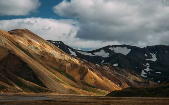 Colourful mountains in Landmannalaugar, Iceland