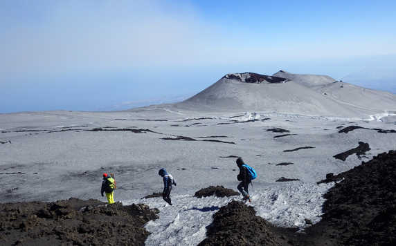 Hiking down the Mt Etna in Sicily