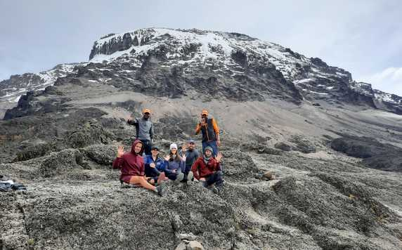 Kandoo Adventures group on the Lemosho Route