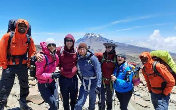 Kandoo guides and climbers on Kilimanjaro