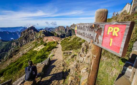 Walking trails on Madeira
