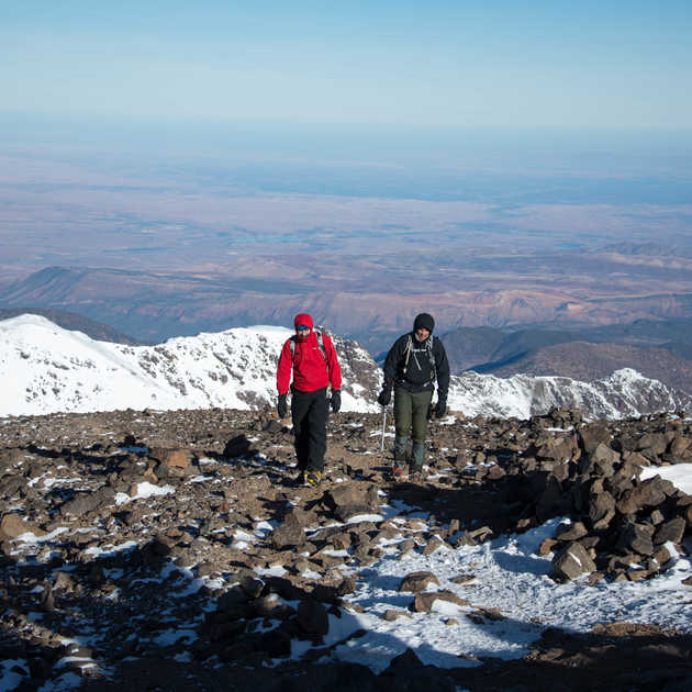 Cold weather high on Toubkal