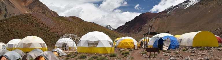 Basecamp near to Aconcagua Summit