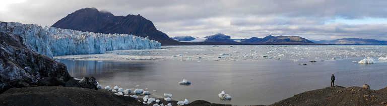 Contemplation in Wallengerbreen, Svalbard