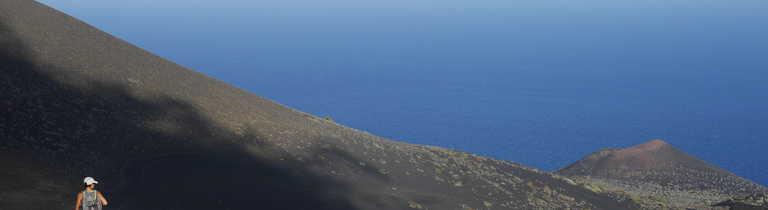 Hiker on La Palma Island