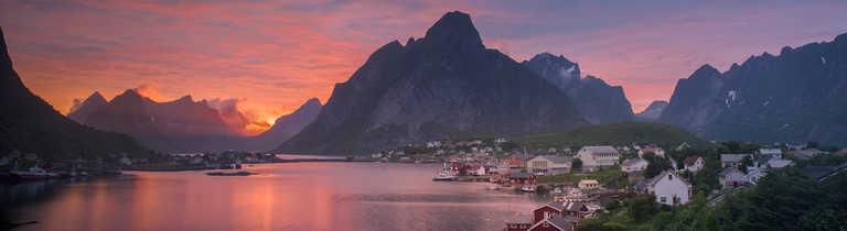 Sunset on the Lofoten Islands