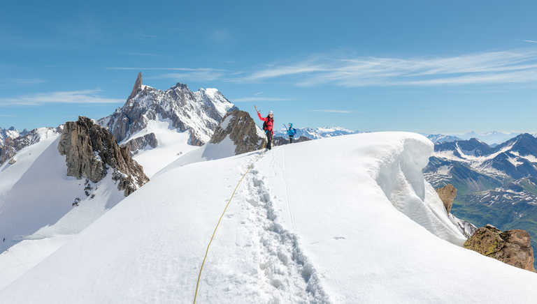 Alpinism in French Alps