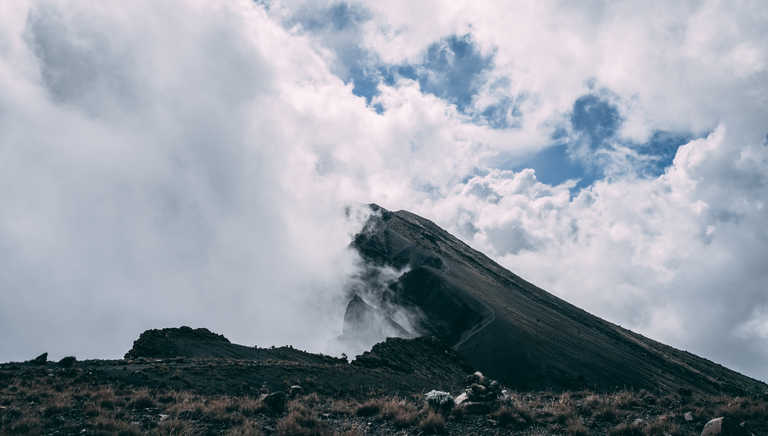 Cloudy ridge on Mt Meru