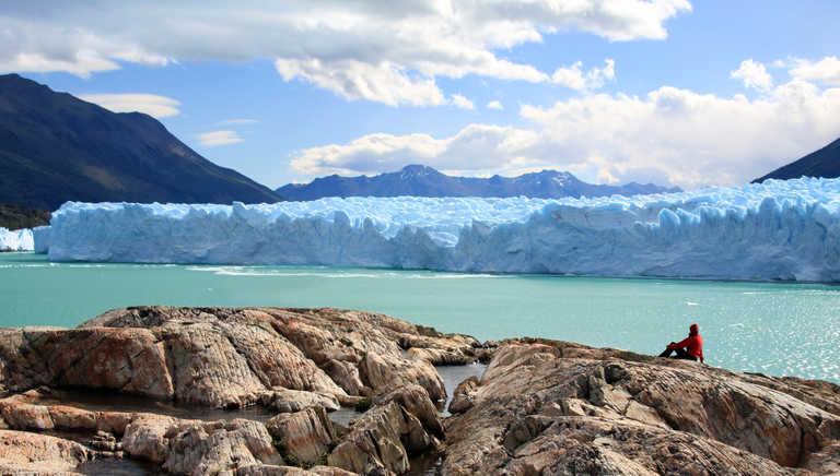 Contemplation in front of the Perito Moreno glacier