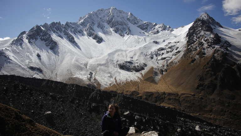 Hiker before the Salkantay pass
