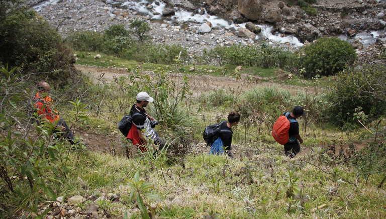 Hikers during the Salkantay trek
