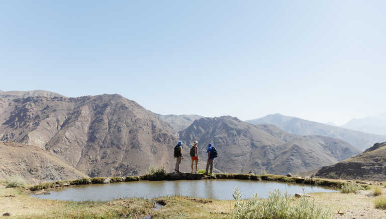 Hikers in the High Atlas region