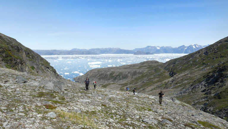 Hiking on the East Coast in Greenland