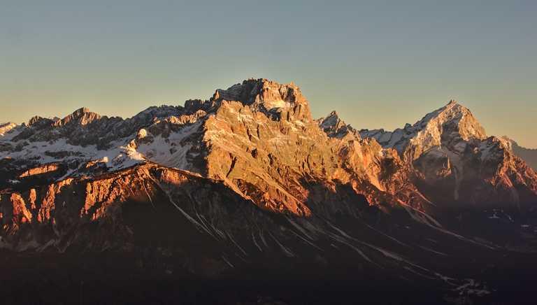 View of Dolomites peaks