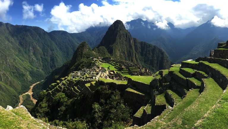 Panoramic view of the Machu Picchu